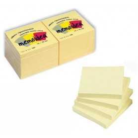 12 x Foglietti MEMOIDEA 75x75 mm. giallo pastello