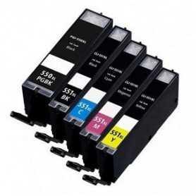 22ML Com for Canon Pixma IP7250,MG5450,MG6350PGI-550XLPGBK.