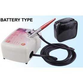 BD-833 Kit compressore e aerografo Nail Art/trucco batteria
