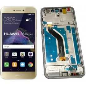LCD + Touch Originale + Frame Huawei P8 & P9 Lite 2017 Gold